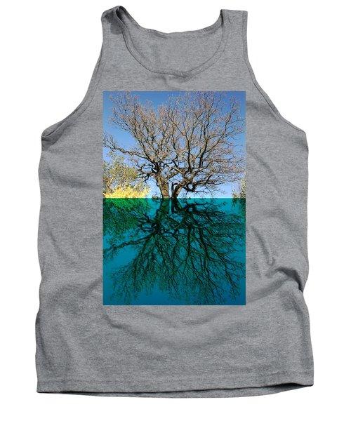 Dancers Tree Reflection  Tank Top
