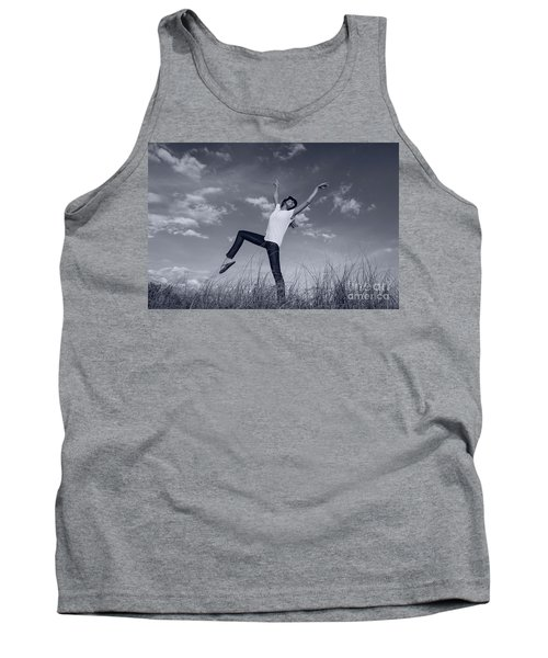 Dancing At The Beach Tank Top by Amyn Nasser