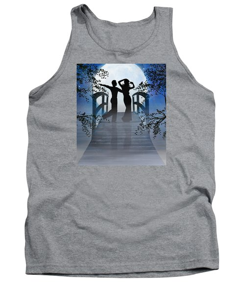 Tank Top featuring the digital art Dancing In The Moonlight by Nina Bradica