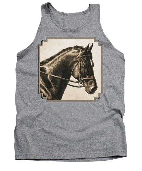 Dark Bay Dressage Horse Aged Photo Fx Tank Top