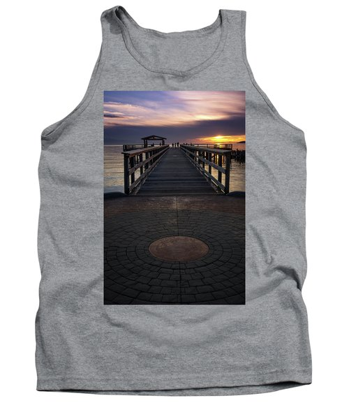 Davis Bay Pier Evening Light Tank Top