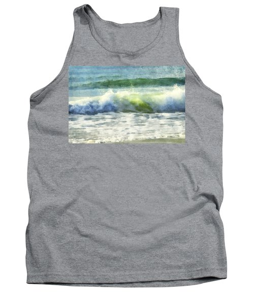Tank Top featuring the digital art Dawn Wave by Francesa Miller