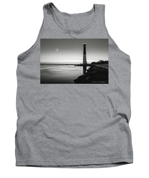 Tank Top featuring the photograph Daybreak At Barnegat, Black And White by Eduard Moldoveanu