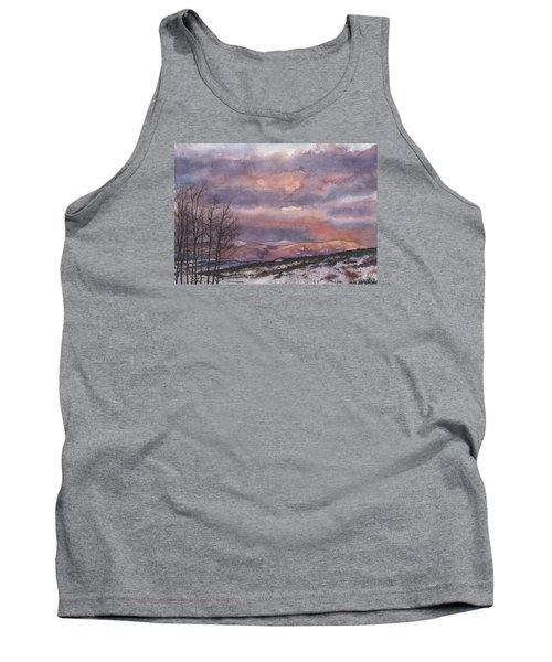 Tank Top featuring the painting Daylight's Last Blush by Anne Gifford