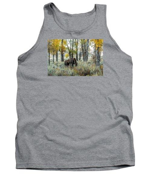 Tank Top featuring the photograph Day's End At Gros Ventre by Yeates Photography