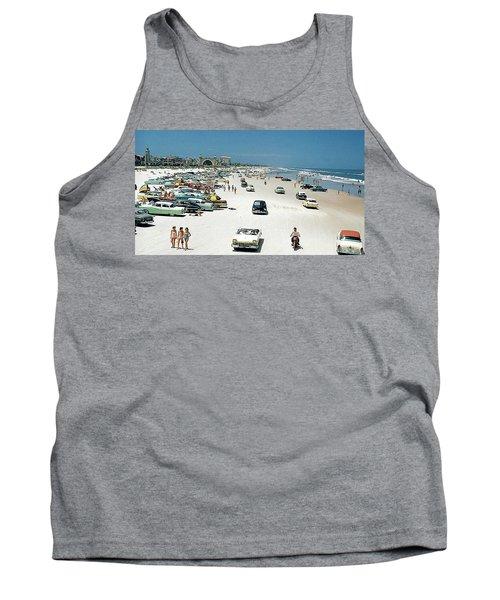 Daytona Beach Florida - 1957 Tank Top by Merton Allen