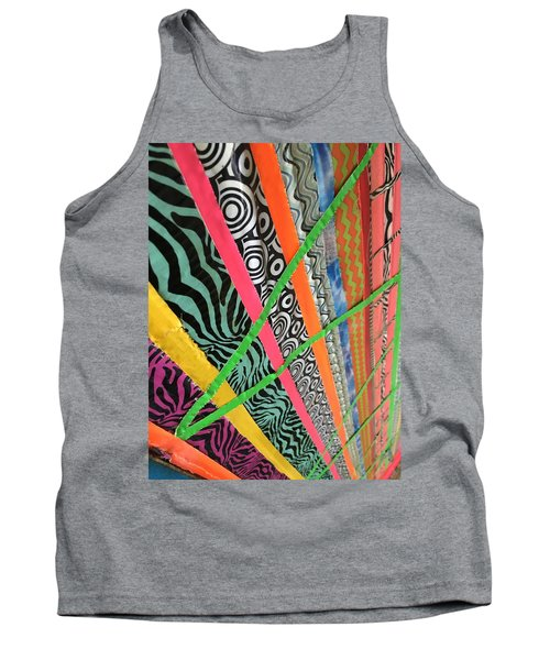 Tank Top featuring the photograph Dazzling Delirious Duct Tape Diagonals by Douglas Fromm