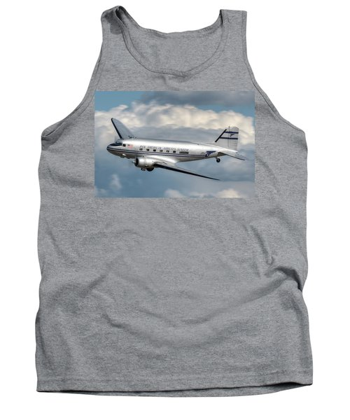 Tank Top featuring the photograph Dc-3 by Jeff Cook