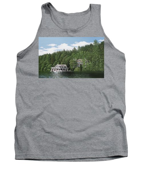 Tank Top featuring the painting De Groote Summer Home Muskoka by Kenneth M Kirsch