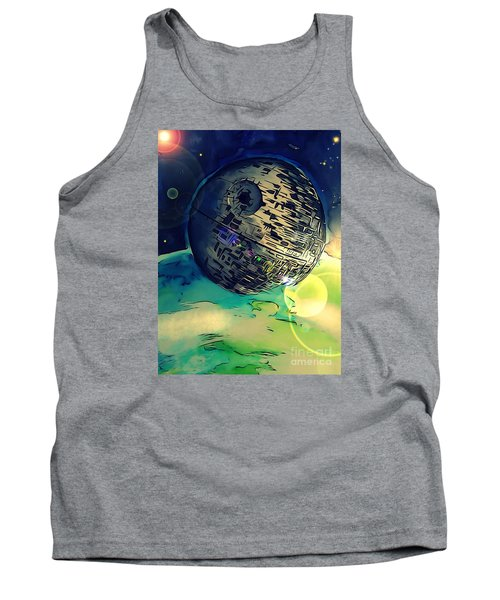 Death Star Illustration  Tank Top by Justin Moore