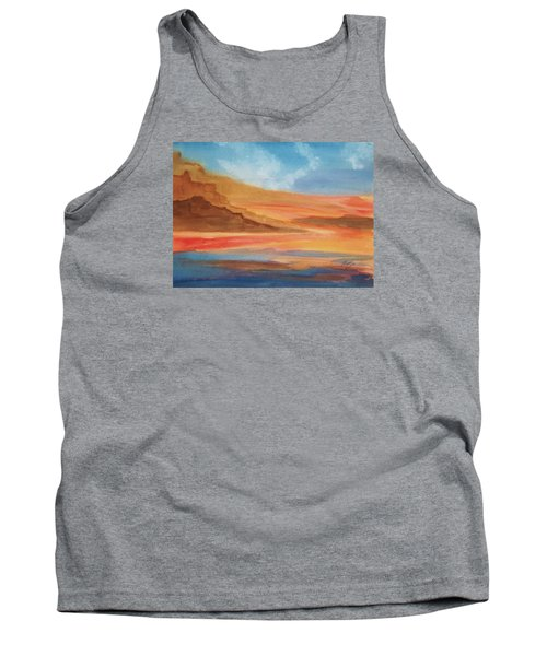 Tank Top featuring the painting Death Valley by Ellen Levinson