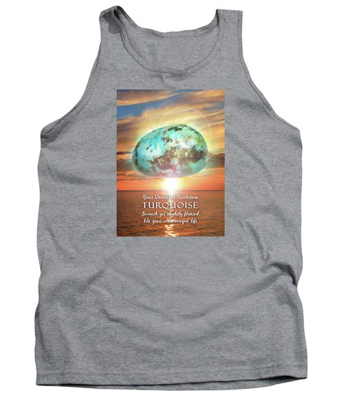 December Birthstone Turquoise Tank Top by Evie Cook