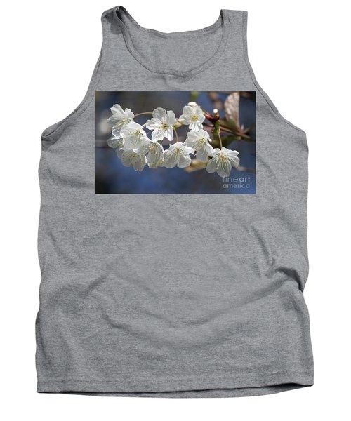 Deep Blue  Cherry Blossom Tank Top