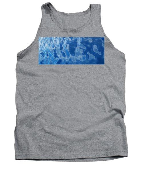 Deep Blue Tide Tank Top