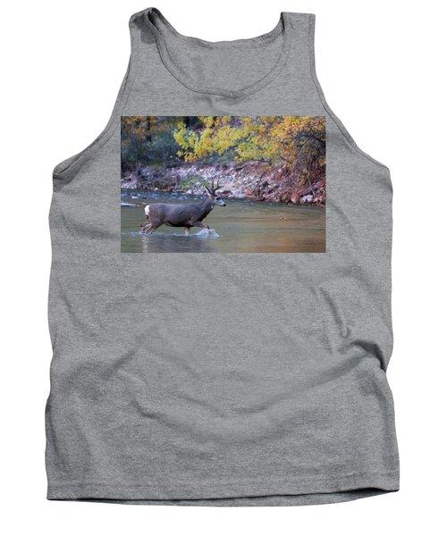 Deer Crossing River Tank Top