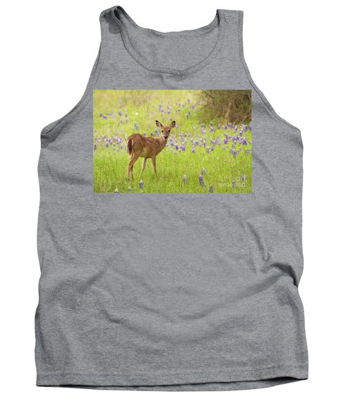 Deer In The Bluebonnets Tank Top