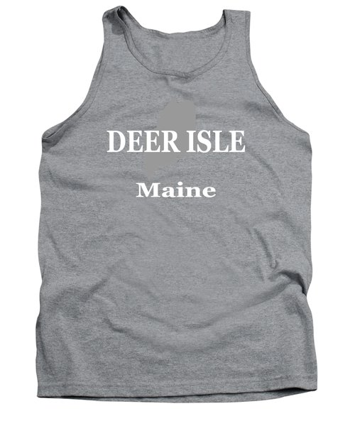 Tank Top featuring the photograph Deer Isle Maine State City And Town Pride  by Keith Webber Jr