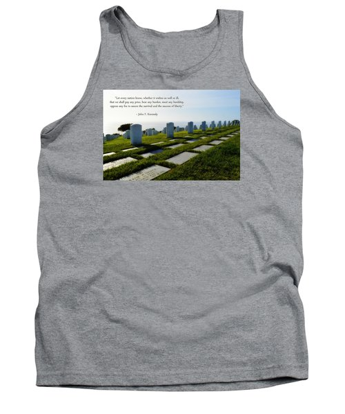 Tank Top featuring the photograph Defending Liberty by Glenn McCarthy Art and Photography