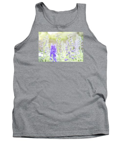 Delphiniums Tank Top by Mary Angelini