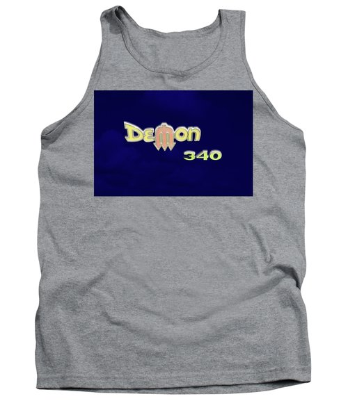 Tank Top featuring the photograph Demon 340 Emblem by Mike McGlothlen