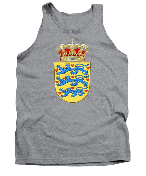 Tank Top featuring the drawing Denmark Coat Of Arms by Movie Poster Prints