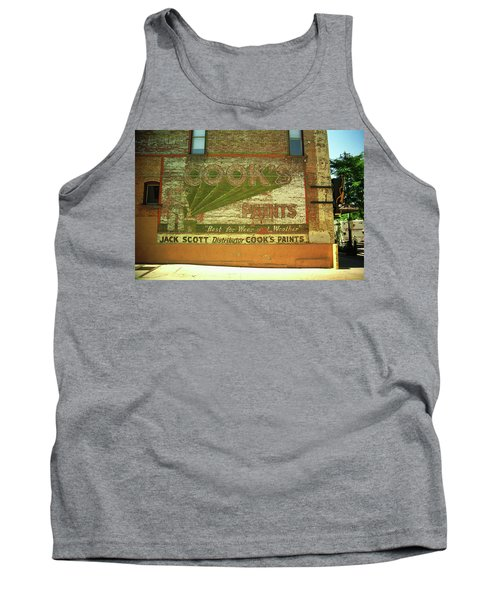 Tank Top featuring the photograph Denver Ghost Mural by Frank Romeo
