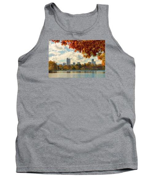 Denver Skyline Fall Foliage View Tank Top
