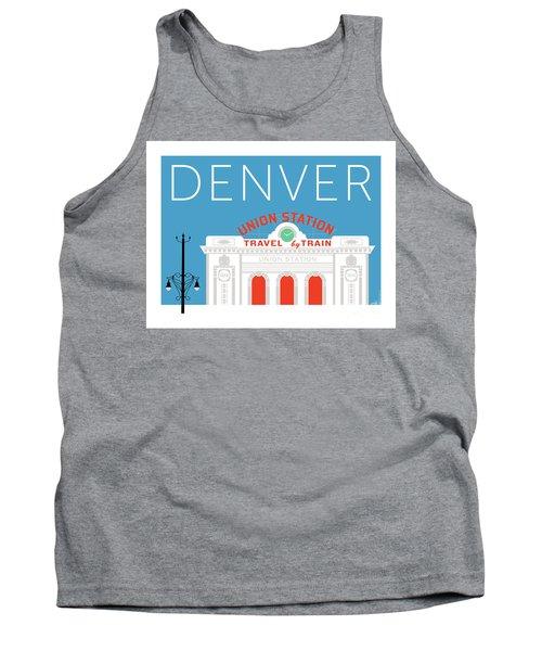 Denver Union Station/blue Tank Top