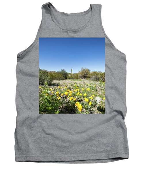Desert Flowers And Cactus Tank Top by Ed Cilley