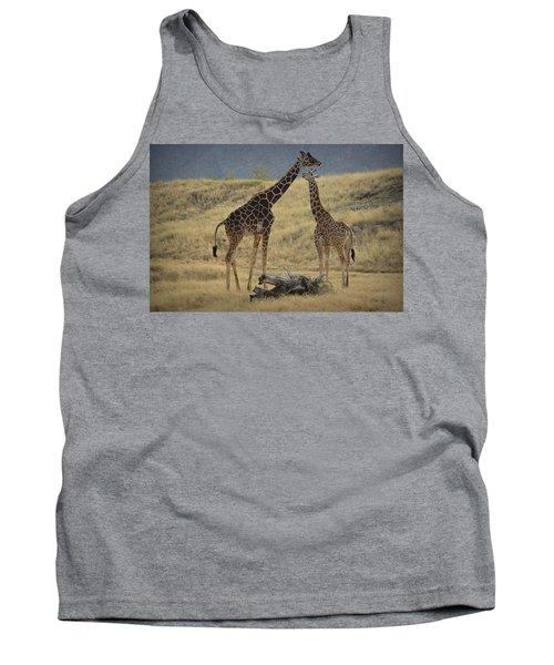Desert Palm Giraffe Tank Top