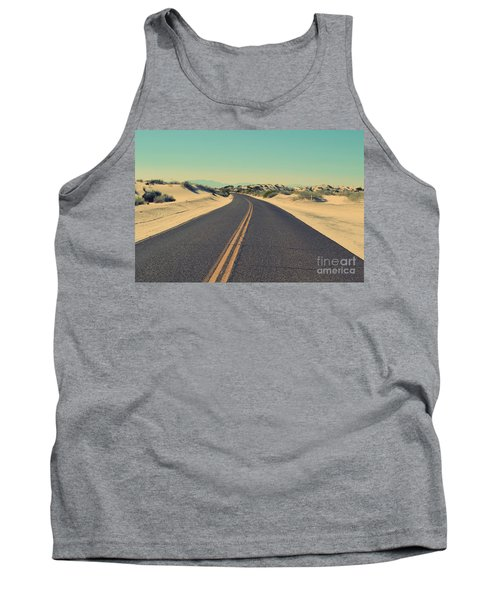 Tank Top featuring the photograph Desert Road by MGL Meiklejohn Graphics Licensing