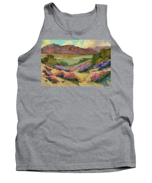 Desert Verbena At Borrego Springs Tank Top