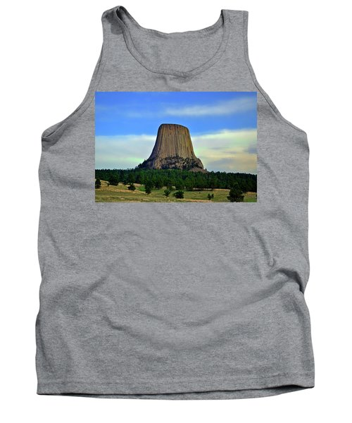 Tank Top featuring the photograph Devils Tower 002 by George Bostian
