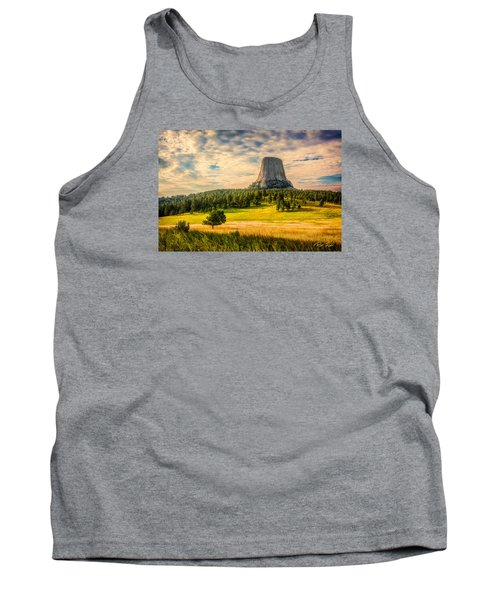 Tank Top featuring the photograph Devil's Tower - The Other Side by Rikk Flohr