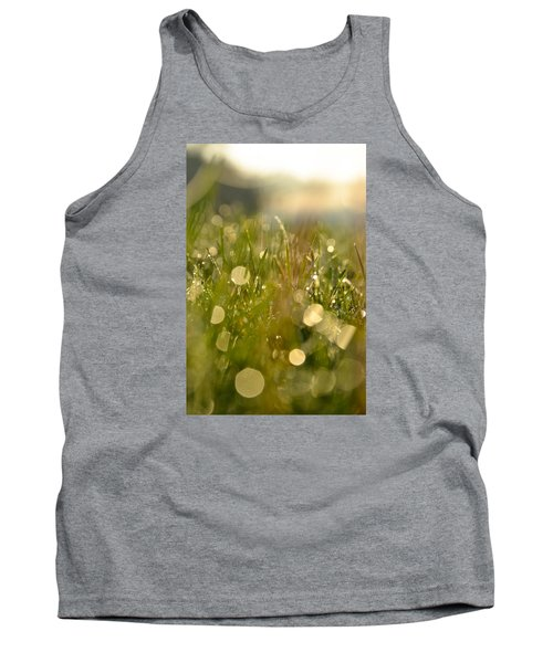 Tank Top featuring the photograph Dew Droplets by Nikki McInnes