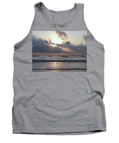 Dhow Wooden Boats At Sunrise 1 Tank Top