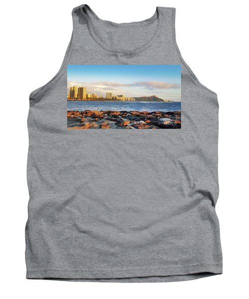 Tank Top featuring the photograph Diamond Head, Waikiki by Kristine Merc