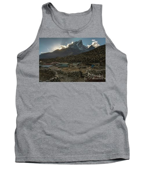 Tank Top featuring the photograph Dingboche Evening Sunrays by Mike Reid