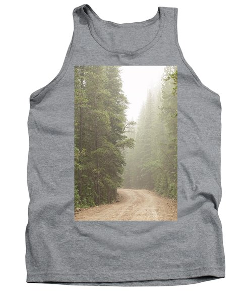 Tank Top featuring the photograph Dirt Road Challenge Into The Mist by James BO Insogna