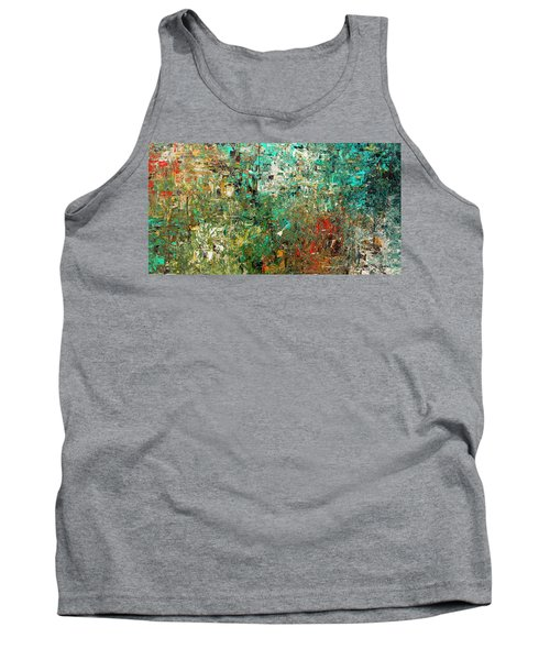Tank Top featuring the painting Discovery - Abstract Art by Carmen Guedez
