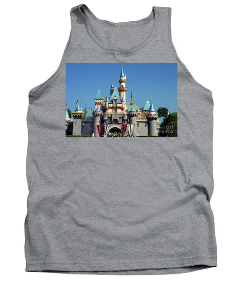 Tank Top featuring the photograph Disneyland Castle by Mariola Bitner