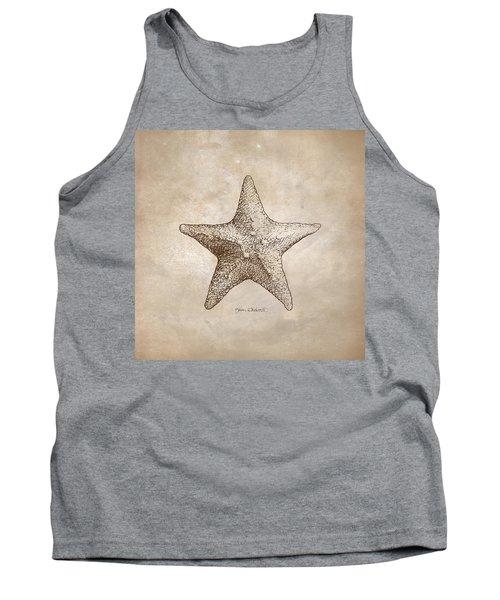 Distressed Antique Nautical Starfish Tank Top