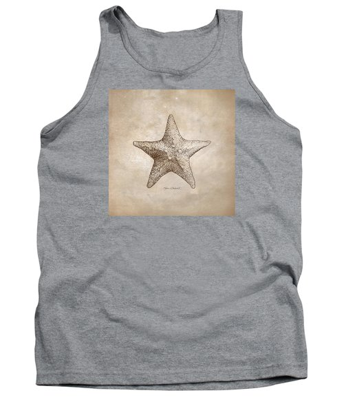 Distressed Antique Nautical Starfish Tank Top