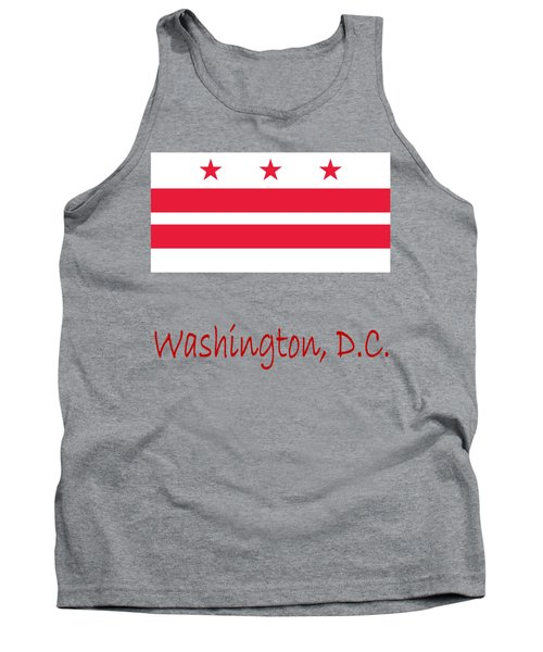 District Of Columbia Flag Tank Top by Frederick Holiday