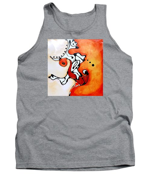 Divided Sunset Tank Top