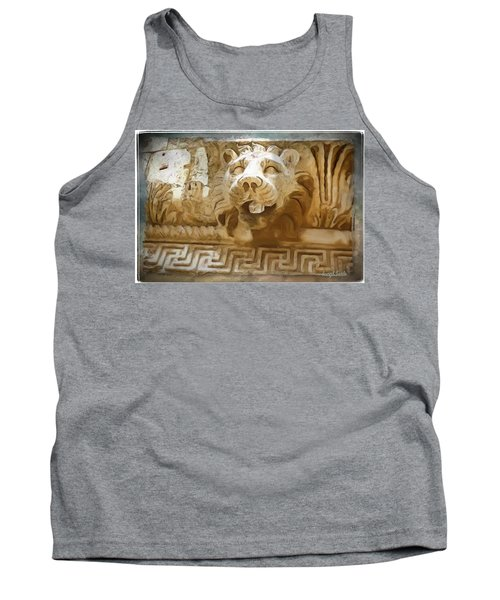 Do-00313 Lion Water Feature Tank Top by Digital Oil