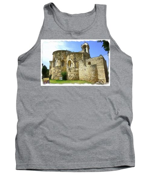 Do-00344 Church Of St John Marcus In Byblos Tank Top by Digital Oil