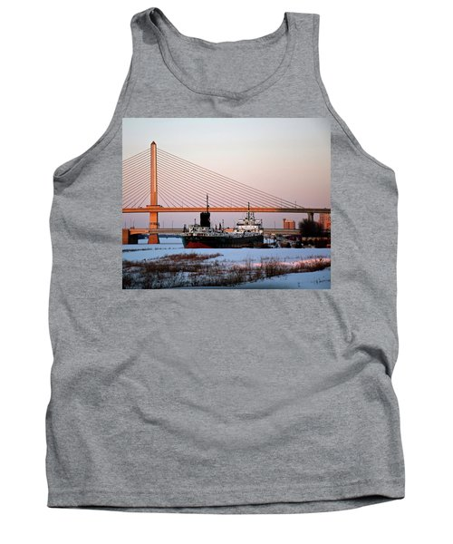 Docked Under The Glass City Skyway  Tank Top