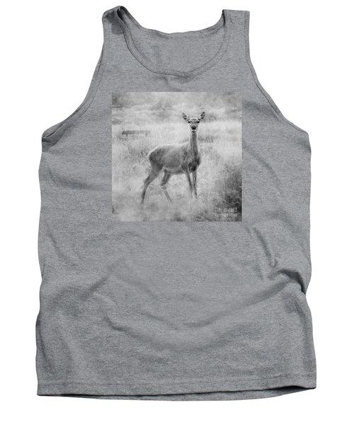 Doe A Deer A Female Deer In Mono Tank Top by Linsey Williams