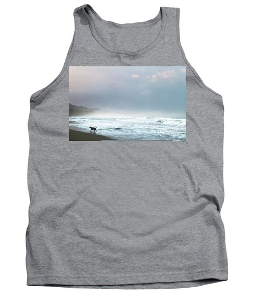 Dog On A Costa Rica Beach Tank Top